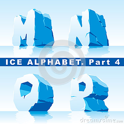 Ice alphabet. Part 4