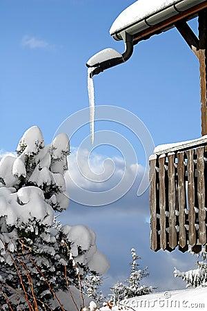 Free Ice At The Balcony Stock Photos - 1026133