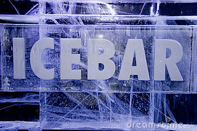 Ice Bar Sign Stock Photography - Image: 4318712