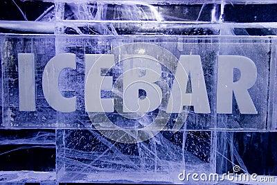 Ice Bar sign