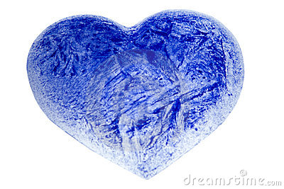 An ice blue heart