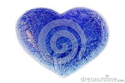 An ice blue heart