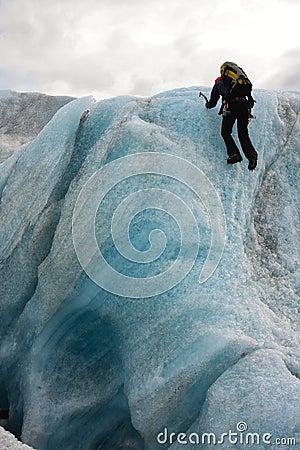 Ice Climbing Editorial Photo