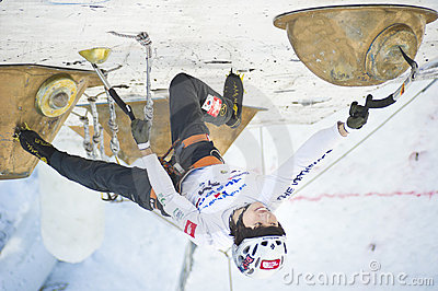Ice Climbing World Championship 2011 Editorial Photography