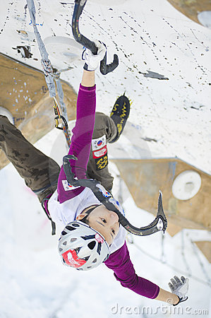 Ice Climbing World Championship 2011 Editorial Image