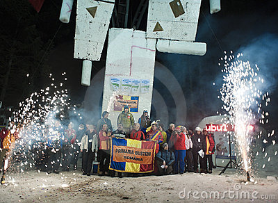 Ice Climbing World Championship 2011 Editorial Stock Image
