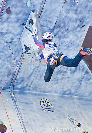 Ice Climbing World Championship Busteni 2008 Editorial Stock Photo