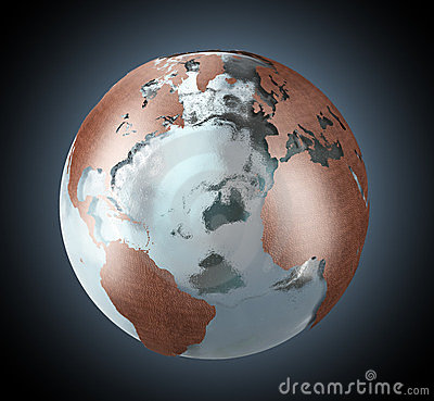 Ice and copper Earth