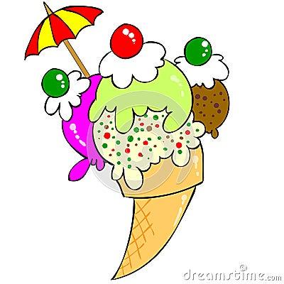 Free Ice Cream Royalty Free Stock Photography - 23730897