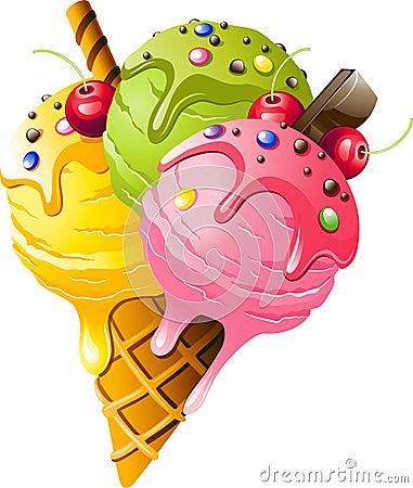 Free Ice Cream Royalty Free Stock Photo - 49361935