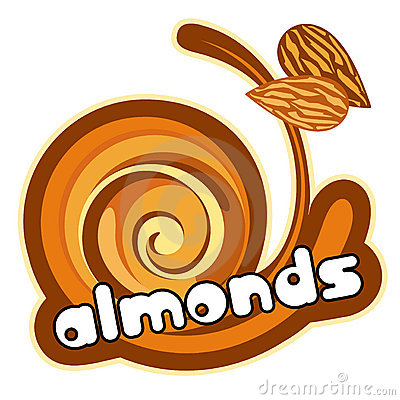 Free Ice Cream Almond Royalty Free Stock Images - 23320009