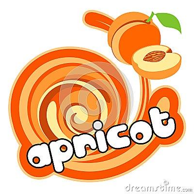 Ice cream apricot