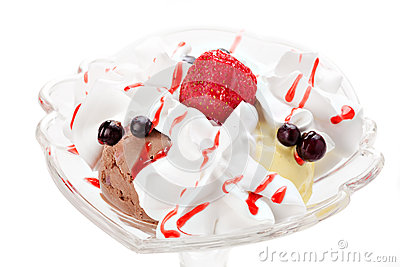 Ice-cream with berries
