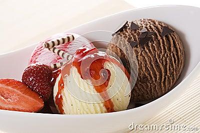 Ice-cream in bowl