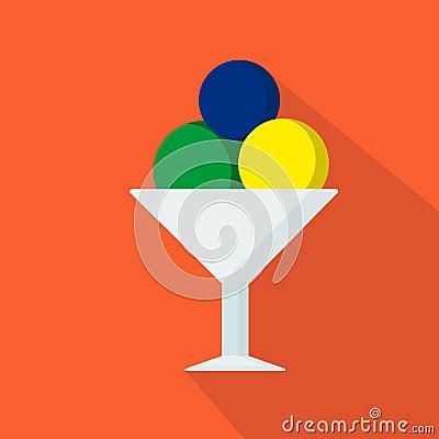 Free Ice-cream Cartoon Flat Icon. Brazil. Summer. Vector Illustration. Royalty Free Stock Image - 95866006