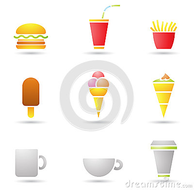 Ice Cream, coffee and Fast Food