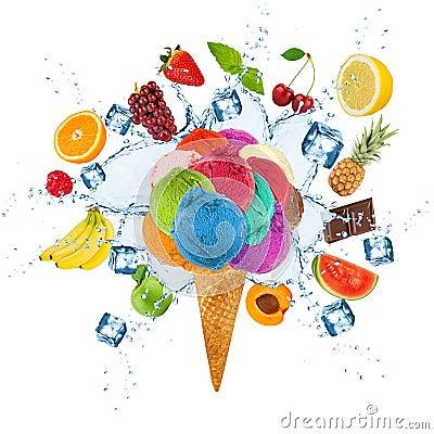 Free Ice Cream Concept Stock Photography - 42961772