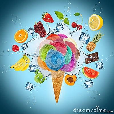 Free Ice Cream Concept Stock Photo - 42961800