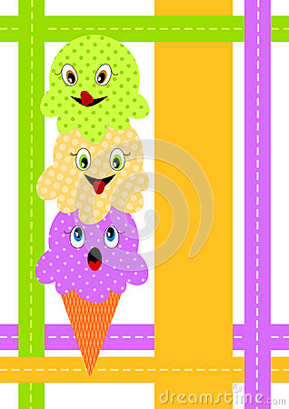 Ice Cream Cone invitation card