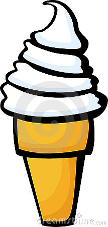 ice cream cone vector illustration