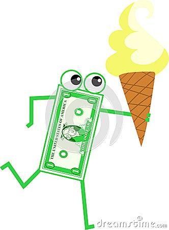 Ice cream dollar