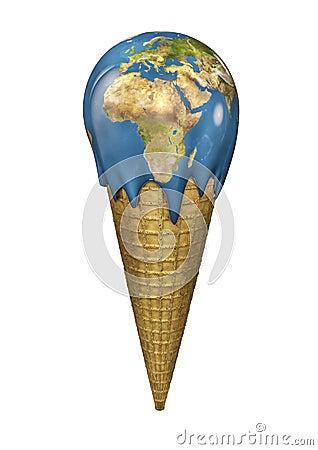 Free Ice Cream Earth Royalty Free Stock Photography - 27540517