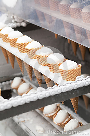 Ice-cream on factory