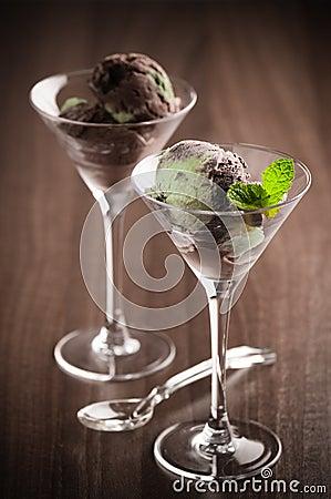 Ice Cream In Glasses