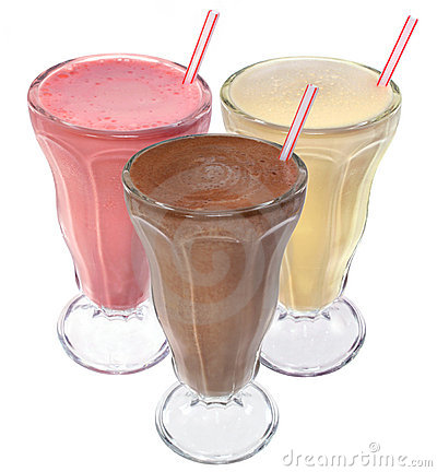 Ice cream milkshake drinks