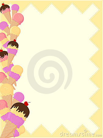 Ice Cream Page Border Royalty Free Stock Photos Image