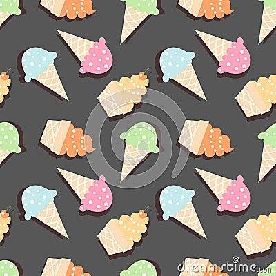 Free Ice Cream Pattern Royalty Free Stock Photo - 70236955