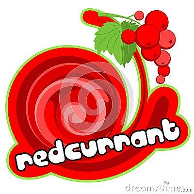 Ice cream redcurrant