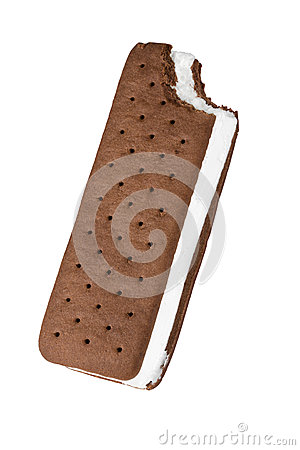 Free Ice Cream Sandwich, Partly Eaten. Stock Images - 47714854