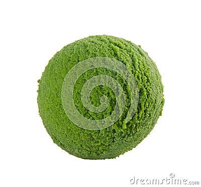Ice cream scoop green tea