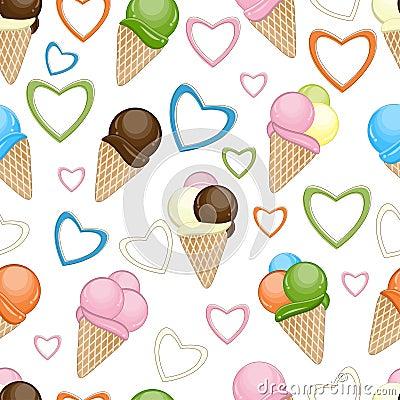 Ice cream seamless background