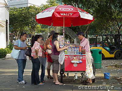 Ice cream seller Editorial Photography