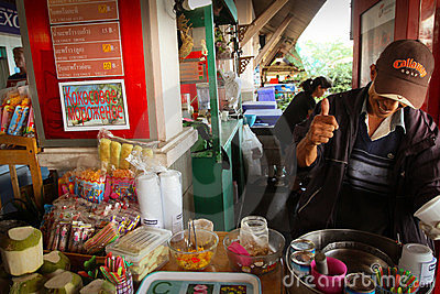 Ice cream seller Editorial Stock Image