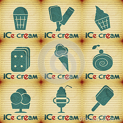 Ice Cream - set labels