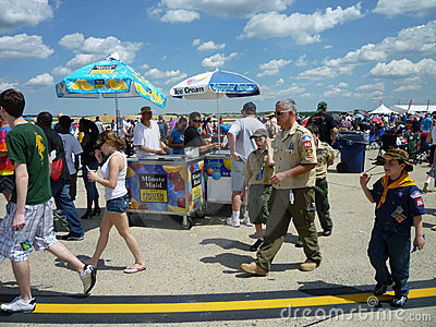 By the Ice Cream Stand Editorial Stock Image