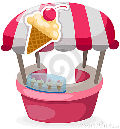 Ice cream stand shop