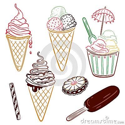 Ice cream, summer