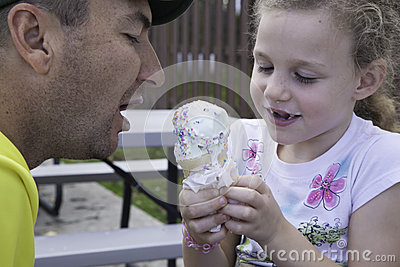 Ice Cream Time - Sharing with Daddy