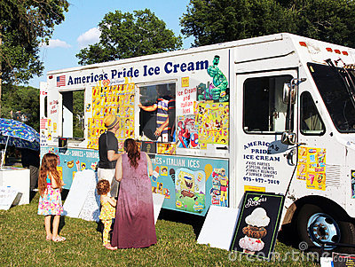 Ice cream truck. Editorial Image