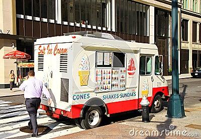 Ice Cream Truck Editorial Photography