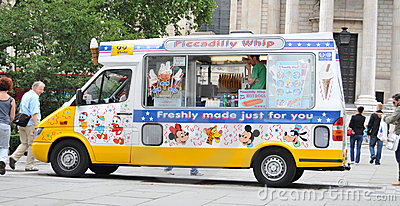 Ice cream van Editorial Stock Image