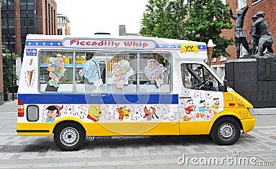 Ice cream van Editorial Stock Photo