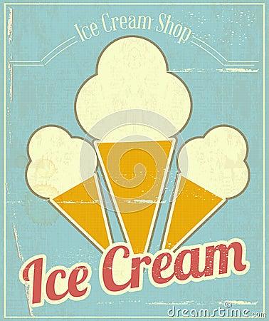 Ice Cream Vanilla Card