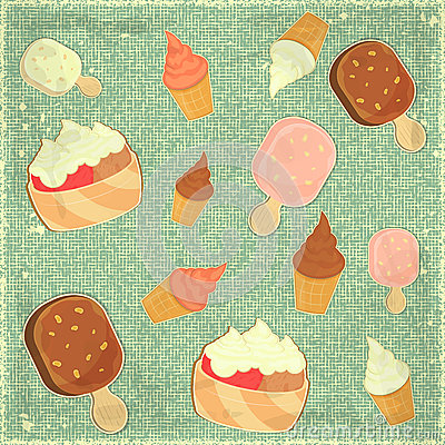 Ice Cream Vintage Background