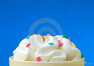 Ice cream in a white cup