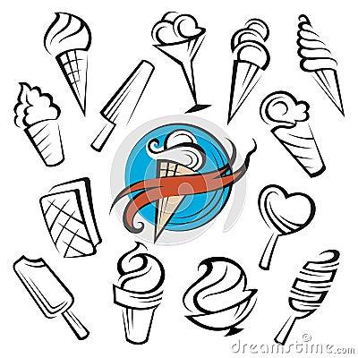 Ice creams set